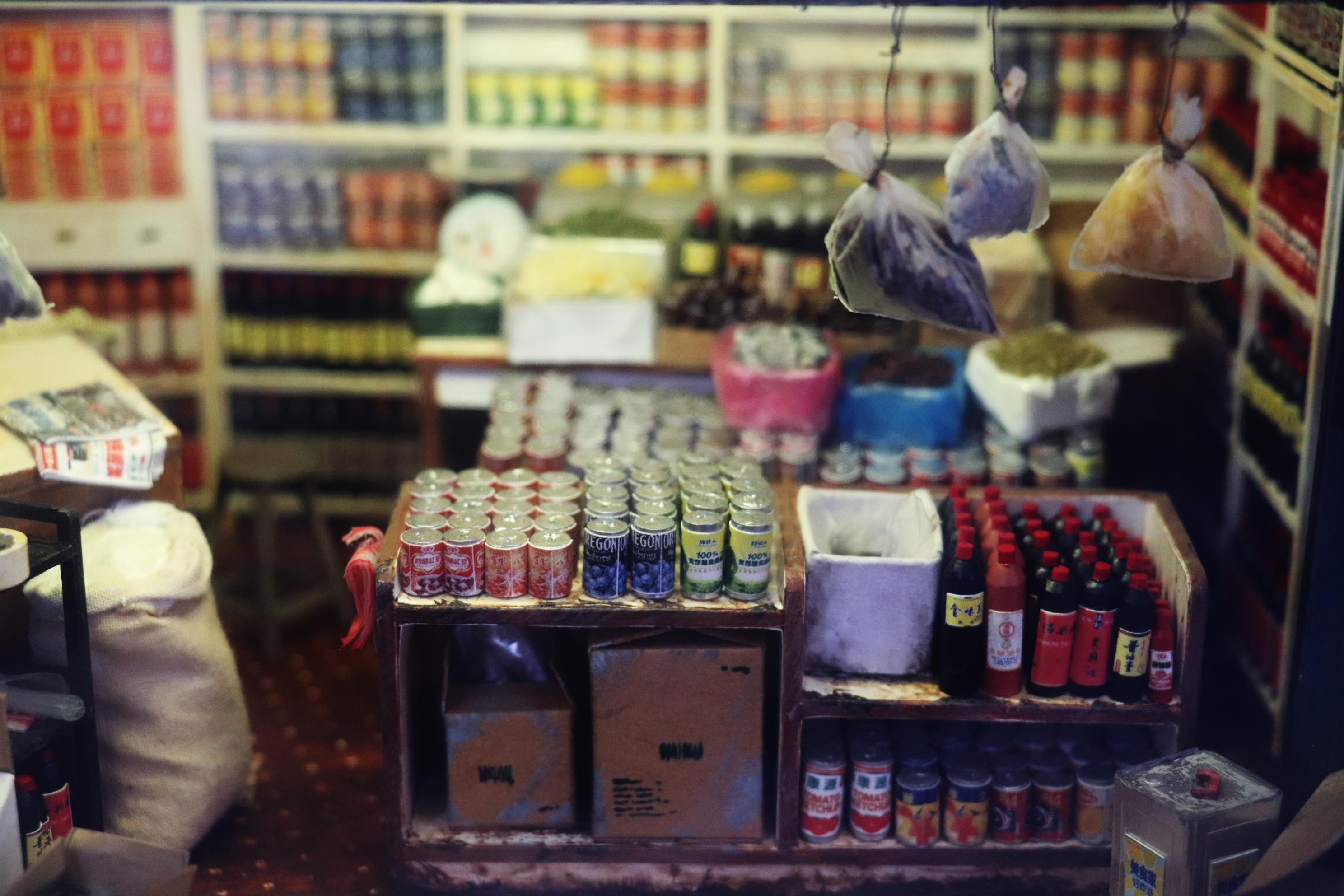 飲料店的小模型。